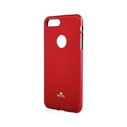 Zadný silikónový kryt Mercury Jelly Case na iPhone 8 červený
