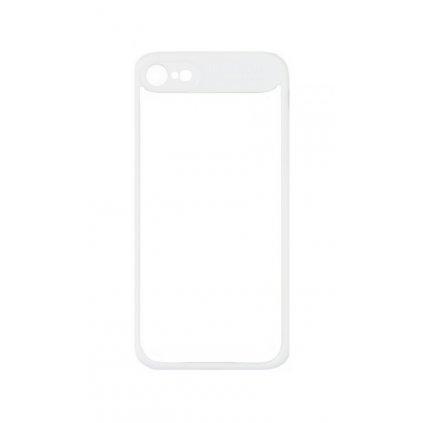 Zadný pevný kryt Baseus na iPhone 7 s rámčekom biely