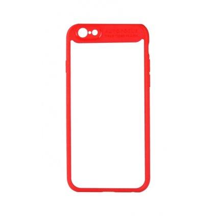 Zadný pevný kryt Baseus na iPhone 7 s rámčekom červený
