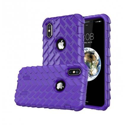 Zadný pevný kryt na iPhone X Dragon fialový