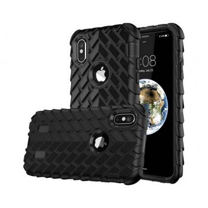 Zadný pevný kryt na iPhone X Dragon čierny
