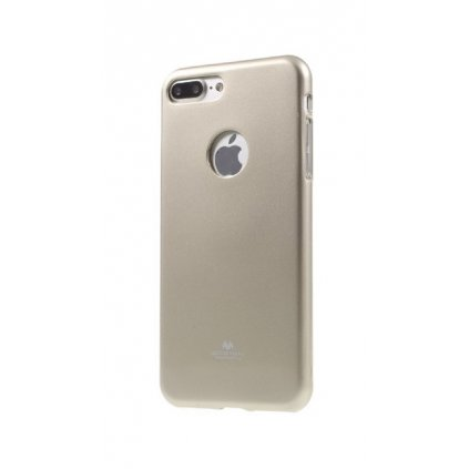 Zadný silikónový kryt Mercury Jelly Case na iPhone 7 Plus zlatý
