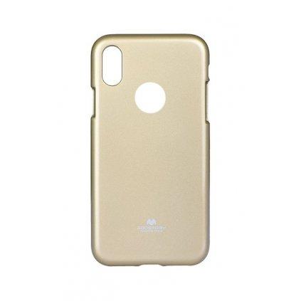 Zadný kryt Mercury Jelly Case na iPhone X zlatý