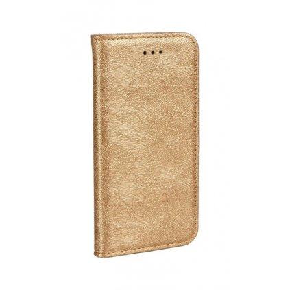 Flipové puzdro Magic Book na iPhone X zlaté