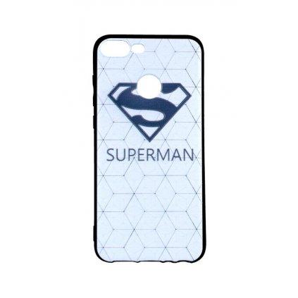 Zadný 3D silikónový kryt na Honor 9 Lite biely Superman