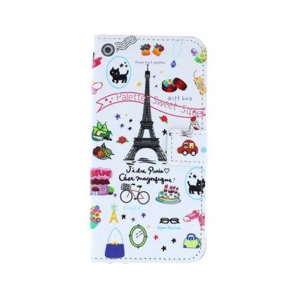 Flipové puzdro na Honor 9 Lite biele Paríž