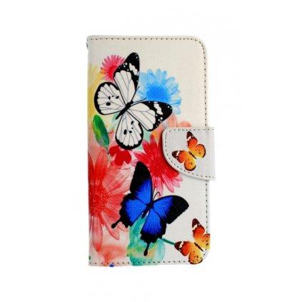 Flipové puzdro na Honor 9 Lite farebné s motýlikmi