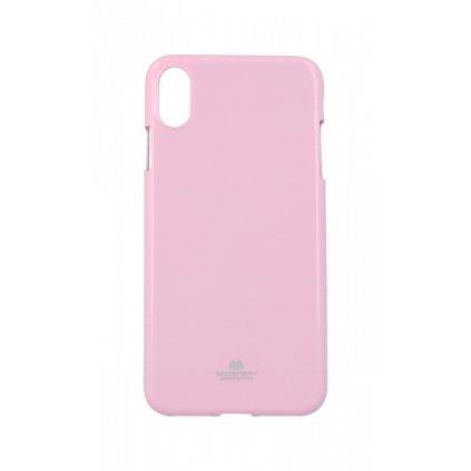 Zadný kryt Mercury Jelly Case na iPhone XS Max svetlo ružový