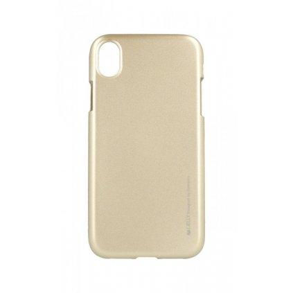 Zadný kryt Mercury iJelly Metal na iPhone XR zlatý