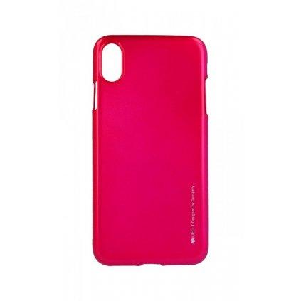 Zadný kryt Mercury iJelly Metal na iPhone XS Max ružový tmavý