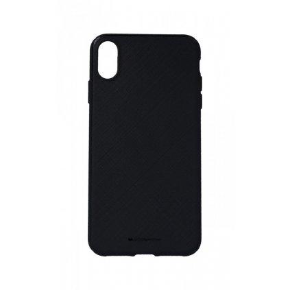 Zadný kryt Mercury Style Lux na iPhone XS Max čierny