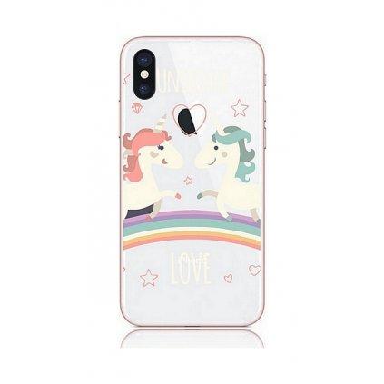 Zadný kryt na iPhone XS Unicorn Love