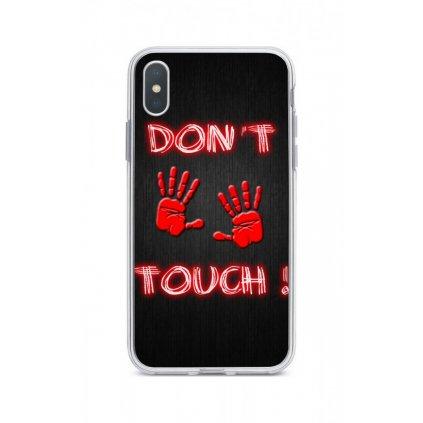 Zadný silikónový kryt na iPhone XS Max Dont Touch Red