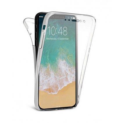 Ultratenký silikónový kryt na iPhone XS Max predné + zadné priehľadný