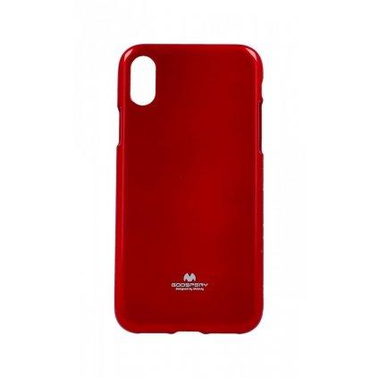 Zadný kryt Mercury Jelly Case na iPhone XS červený