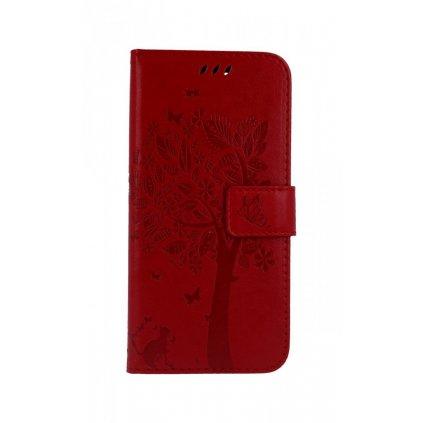 Flipové puzdro na Honor 10 červený strom