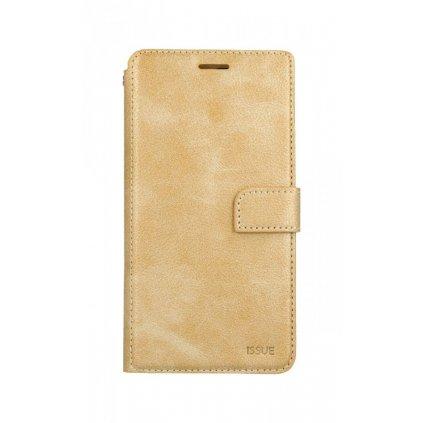 Flipové puzdro Molan Cano Issue Diary na iPhone XS Max zlaté