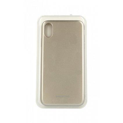 Zadný silikónový kryt Molan Cano Jelly na iPhone XS Max zlatý