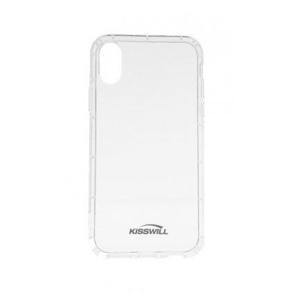 Zadný silikónový kryt Kisswill Air Around na iPhone XS Max priehľadný