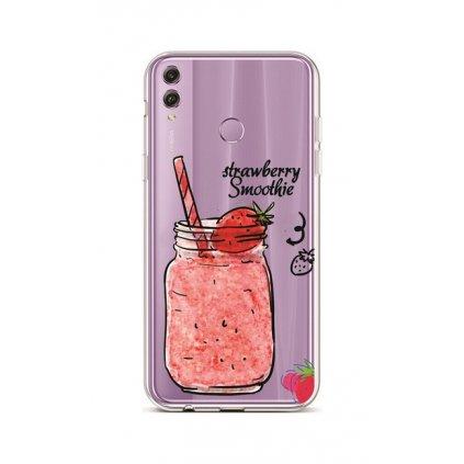Zadný silikónový kryt na Honor 8X Strawberry Smoothie
