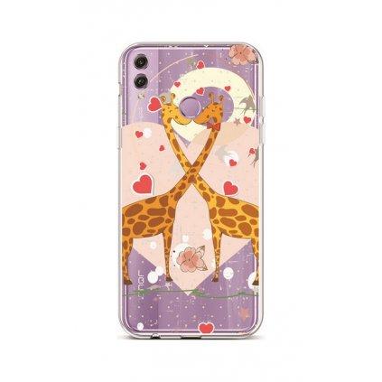 Zadný silikónový kryt na Honor 8X Giraffes In Love