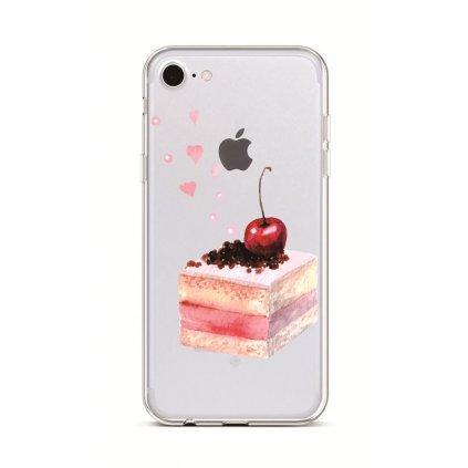 Zadný silikónový kryt na iPhone 7 Cheery Cake