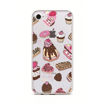 Zadný silikónový kryt na iPhone 7 Desserts
