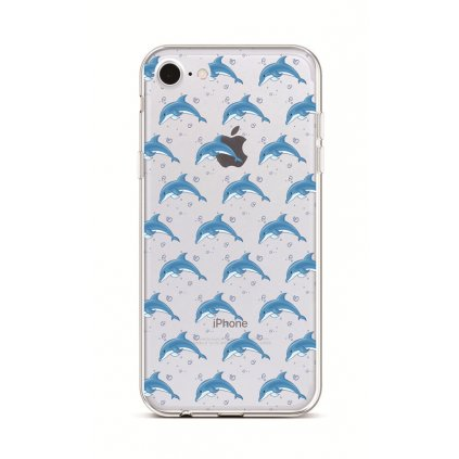 Zadný silikónový kryt na iPhone 7 Dolphins