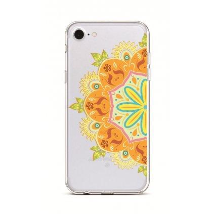 Zadný silikónový kryt na iPhone 7 Orange Mandala