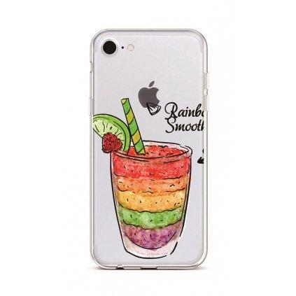 Zadný silikónový kryt na iPhone 7 Rainbow Smoothie