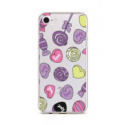 Zadný silikónový kryt na iPhone 7 Lovely Candy