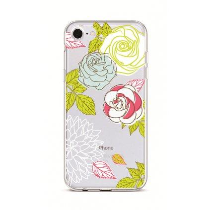 Zadný silikónový kryt na iPhone 7 Abstract Roses
