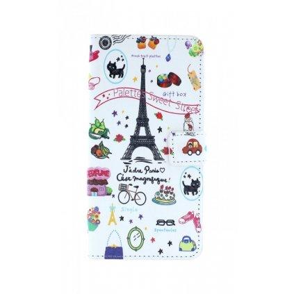 Flipové puzdro na Honor 10 Lite Biele Paríž