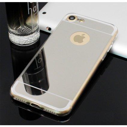 Zadný Zrkadlový kryt na iPhone 8 silikón strieborný