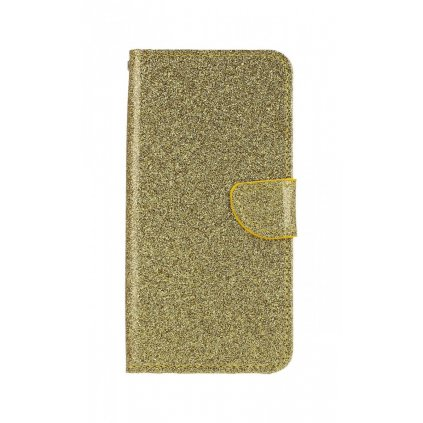 Flipové puzdro na Honor 8X glitter zlaté