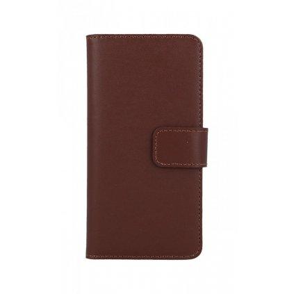 Flipové puzdro na iPhone 7 hnedé koženka