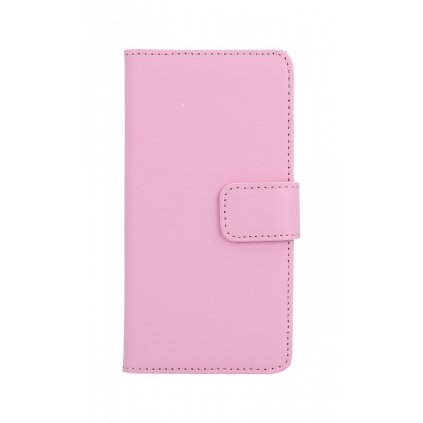 Flipové puzdro na iPhone 7 svetloružové koženka