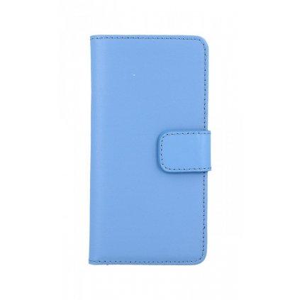 Flipové puzdro na iPhone 8 modré koženka