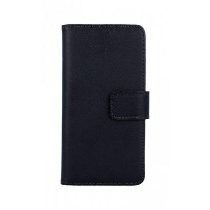 Flipové puzdro na iPhone 8 čierne koženka