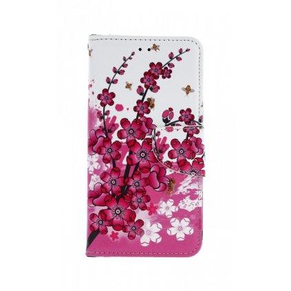 Flipové puzdro na Honor 7A kvety textil