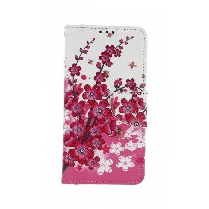Flipové puzdro na Honor 20 Lite Kvety textil