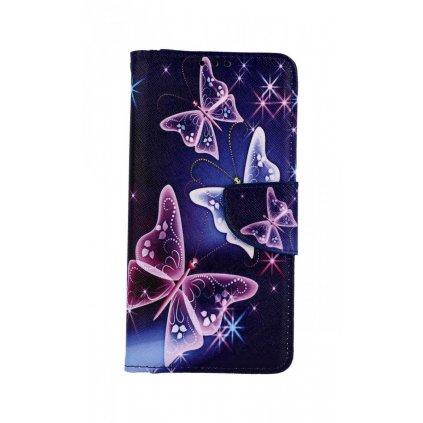 Flipové puzdro na Honor 20 Lite Modré s motýlikmi