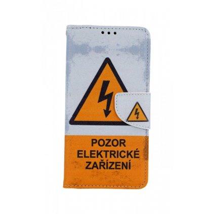Flipové puzdro na Honor 20 Pozor elektrické zariadenie