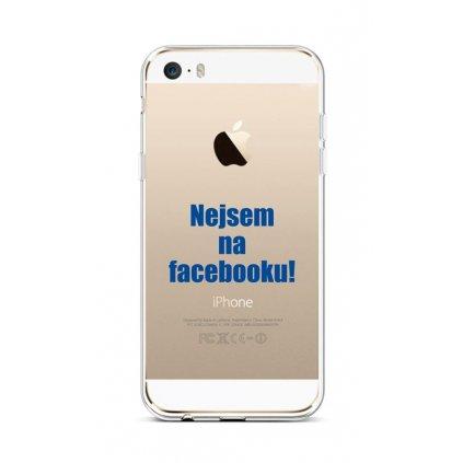 Zadný silikónový kryt na iPhone 5 - 5S - SE Nie som na Facebooku