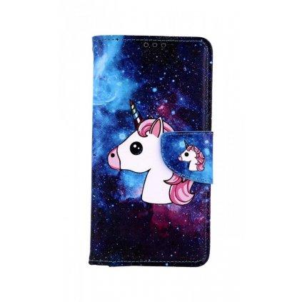 Flipové puzdro na Honor 8A Space Unicorn