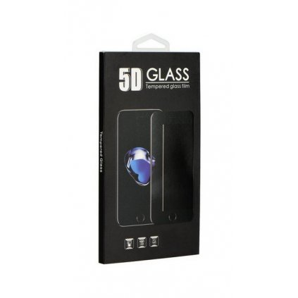 Tvrdené sklo BlackGlass na iPhone 8 Plus 5D priehľadné