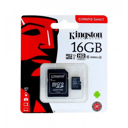 Pamäťová karta Kingston 16GB Class 10