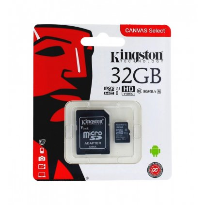 Pamäťová karta Kingston 32GB Class 10