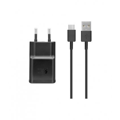 Originálna USB-C (USB type-C) rýchlonabíjačka Samsung EP-TA200EBE +  EP-DG970BBE čierna