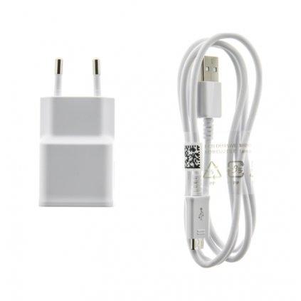 Originálna nabíjačka Samsung EP-TA50EWE + micro USB ECBDU4AWE biela 1,55 A